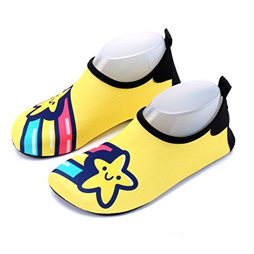 Kinder Aquaschuhe Wasserschuhe Mädchen Jungen Badeschuhe Baby Schwimmschuhe Strandschuhe Surfschuhe Barfuß Schnell Trocknend Schuhe Socken Drudenfuß