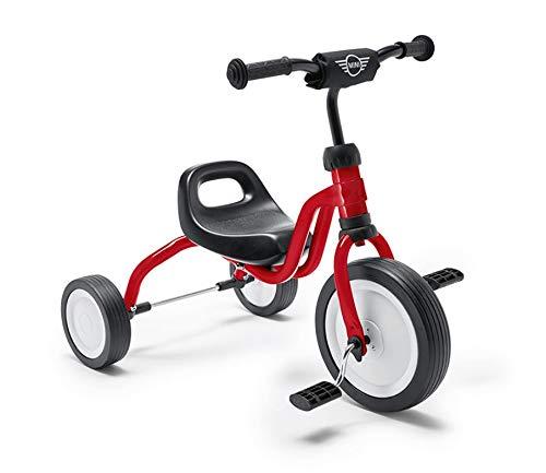 Mini Tricycle Roues Silencieuses pour Enfants de 18 Mois et + Rouge Piment.