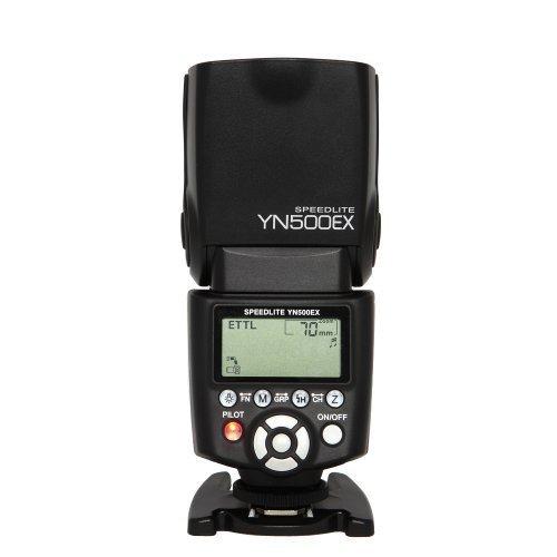 Yongnuo E-TTL YN500EX 1/8000s Flash con HHS per Canon EOS 7D 6D 5D Mark II, 60D 600D