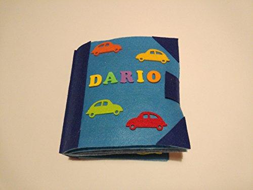 QUIET BOOK AZUL Libro sensorial con 8 actividades para el aprendizaje y entretenimiento de los niños. Se personaliza con el nombre.