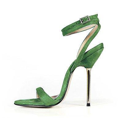 LvYuan Da donna-Sandali-Formale Casual Serata e festa-Cinturino alla caviglia-A stiletto-Velluto-Nero Blu Verde Viola scuro Grigio scuro Blue