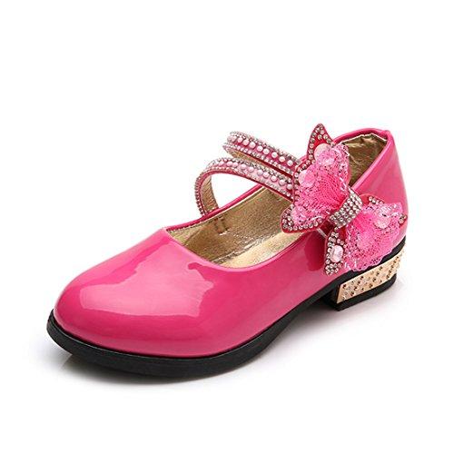 Heel Kinder Schuhe High Für (O&N Kinder Mädchen Prinzessin High Heel Schuhe Lederschuhe Sandalen Kinder Hochzeit Schuhe High Heels Kleid Party Schuhe)
