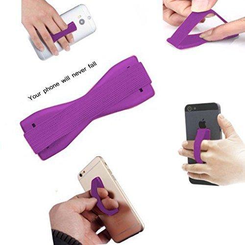 I-Sonite (lila) Universal Anti-Rutsch-Gummi-Finger-Handy-Griff-Halter für ZTE Nubia Z17S