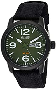 CITIZEN Mens Solar Powered Watch, Analog Display and Nylon Strap - BM8475-00X