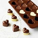 Wokee Silikon Schokoladenform Blumenförmig Silikonform mit Schokolade, Praline,Silikon-Schokoladen-Kaffeebohnen-Form-Süßigkeits-Kuchen-Bonbon-55 Hohlraum Silikonform