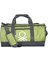 ac7060e1059c75 United Colors of Benetton Gym Bag Polyester 45 cms Neon Green/Grey Gym  Shoulder Bag