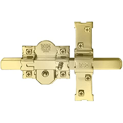 FAC 301-RP/80 - Cerrojo para puerta blindada, acabado dorado
