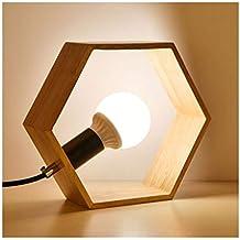 Luz de noche enchufable, lámpara de mesita de noche en el dormitorio, luz de