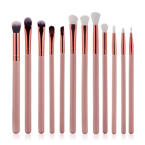Scrox 1x (12 pcs) Oeil dédié Combinaison de pinceaux de Maquillage Brosse à paupières Professionnel Outils de Maquillage