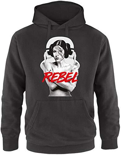 EZYshirt® Prinzessin Leia Rebel Herren Hoodie | Herren Kapuzenpullover | Herren Pullover (Prinzessin Leia Kostüm Rebel)
