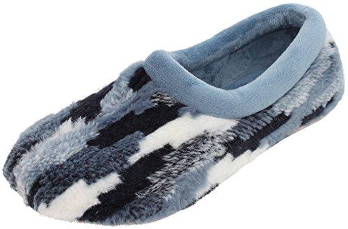 Pantofole Da Donna Cosero Con Soletta Rimovibile Soletta Rimovibile Tallone Chiuso Gr. 36-42 Azul / Turchese