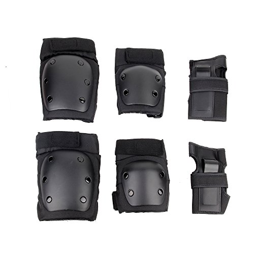 Fontic Outdoor Sports Protective Gear Elbow Pads Knee Pads Armguard Wrist Pads Guards Protective Gear Sets for Inline Roller Skating Biking Cycling Scooter Skateboard BMX Mountain Bike Rollerblade Extreme Sports (L)