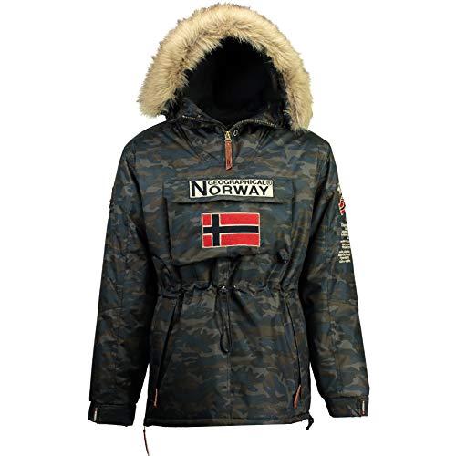 Geographical Norway Chaquetas DE Esqui DE Hombre CAMUFLAGE Navy (Xlarge)