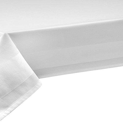 Azvd 100% di cotone in colore bianco di forma rettangolare di base larghezza 130 cm colore e lunghezza a scelta speciale misura speciale colore, cotone, bianco, 130x320 cm