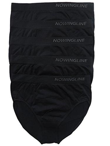 Nowingline Schwarze Slips 5er Pack für Damen Größe 38-64 (58)