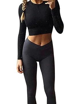 AMUSTER Mode Donne Elegante Pantaloni Di Pantaloni Sportivi Di Stretching Della Palestra Di Ginnastica Di Yoga...
