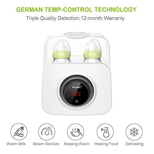 Bable Flaschenwärmer丨Sterilisator für Babyflaschen丨Babykostwärmer丨Multifunktionale Baby Flaschenwärmer mit Ernährungsschutz-Technologie and LCD Bildschirm - 2