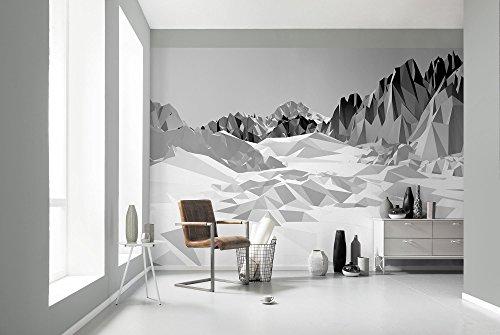 Komar - Fototapete ICEFIELDS - 368 x 254 cm - Tapete, Wand Dekoration, 3D, Berglandschaft, Design, Grafik, Abstrakt - 8-208