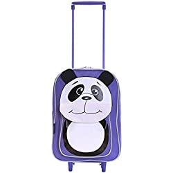 Karabar Wildlife Amigos Niños Bolsa Trolley (Morado Panda)