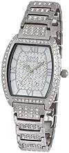 Comprar Aatos JuliusS - Reloj unisex automático, caja y correa de latón bañado en plata, cristales de Swarovski