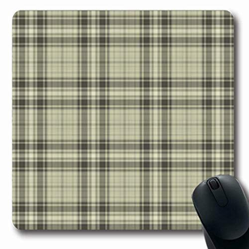 Gsgdae Mauspad Woodsman Plaid Muster abstraktes Beige Picknick Tan Flanell Braun maskuline schwarz rechteckig 20,1 x 24,1 cm rechteckig Gaming Mauspad Anti-Rutsch-Mauspad -