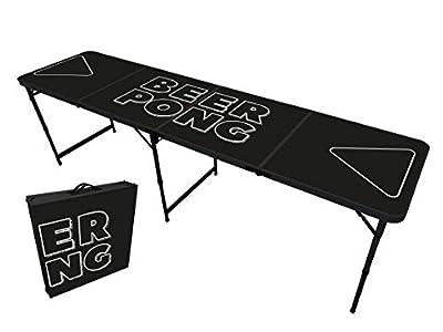 Original Cup - Table Beer Pong Officielle Premium Haute Qualité Version Noir - Dimensions Officielles Compétition - Résiste aux Rayures et Éclaboussures - Jeu de Soirée - Jeu à Boire