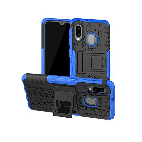 betterfon | Outdoor Handy Tasche Hybrid Case Schutz Hülle Panzer TPU Silikon Hard Cover Bumper für Samsung Galaxy A20e SM-A202 Blau (Cover Case Handy)