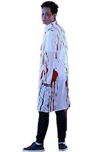 Halloween erwachsene Frauen blutige Doktor Krankenschwester Kostüm Ghost Uniform Kleid Paare Kostüm (L, (Uniform Ärzte)