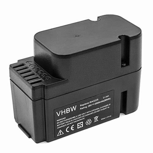 vhbw Akku passend für Worx Landroid M1000 WG791E.1, M1000i WG796E.1, M500 WG754E, M800 WG790E.1 Mähroboter wie WA3225, WA3565 - (Li-Ion, 2000mAh, 28V)