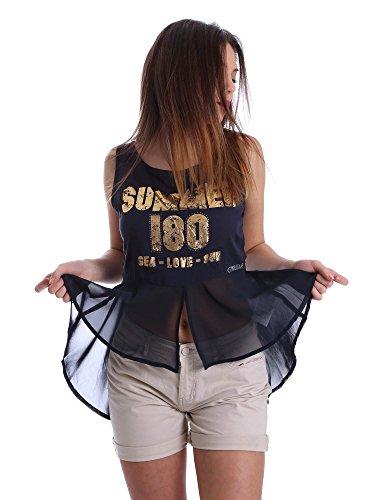 Gaudi jeans 73BD64249 Canotta Donna Blu S