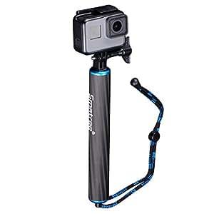 Smatree SmaPole F1- Bastone selfie Monopiede in fibra di carbonio presa a mano per GoPro Hero 6/5/4/3+/3/2/1, Blu