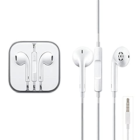 Zactech OEM 3.5MM Audio Port Earpod Earphone with Microphone for iPhone iPod iPad Samsung HTC Nokia Sony Motorola Blackberry support Android or iOS 10.3.1 Below and