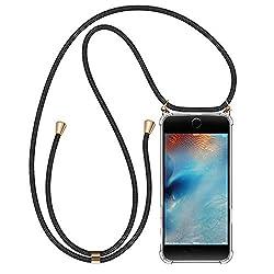 """Migimi Handykette iPhone 7, Hülle iPhone 7/8 Handyhülle mit Umhängeband Silikon Schutzhülle mit Band, Halsband Hülle mit Kordel Necklace Schnur mit Case zum Umhängen Handy-Kette für iPhone 8 (4,7"""")"""