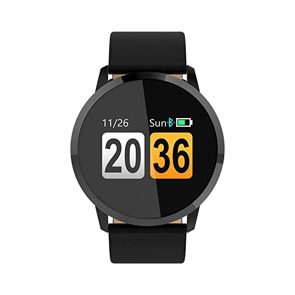 Pulsera deportiva Smart Smartwatches,rastreador de actividad física,Podómetro/Detección de frecuencia cardíaca/Anti-perdida/Recordatorio de tareas/Mensaje telefónico,Smartwatch mujeres hombres,Gold 5