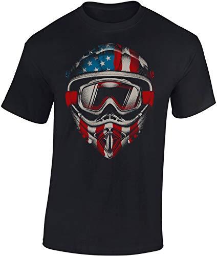 T-Shirt: American Motocross - Motorrad T-Shirt Herren Damen - Mann Männer Frau-en - Liebhaber - Fan-s - Moto-Cross - Biker - Geschenk - Motor-Sport - Motorradfahrer-in - Bike (XXL)