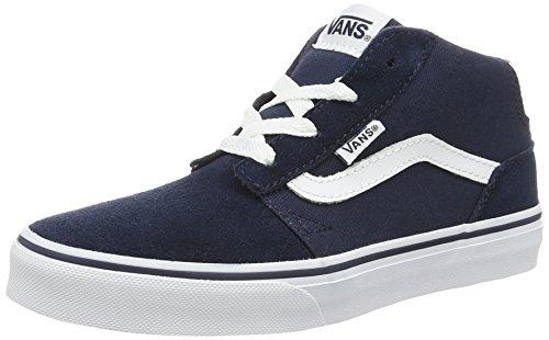 Vans Yt Chapman Mid, Sneakers Hautes Garçon Bleu (Suede/canvas)