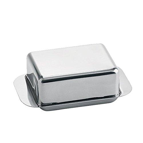 Weis Butterdose für 1/4 Pfund, Edelstahl, Silber, 12.5 x 7.5 x 4.5 cm (Silber Pfund)