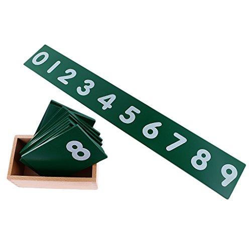Niños Montessori Material Juguetes Papel De Lija 0-10 Número Juguetes De