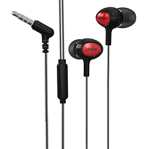 Artis E400M in-Ear Headphones with Mic (Black)