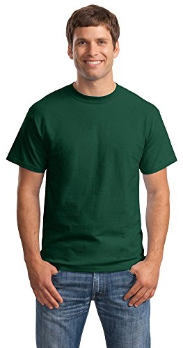 Hanes Mens Beefy-T Born to Be Worn 100% Cotton T-Shirt Deep Forest