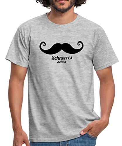 Spreadshirt Schnorres Deluxe Männer T-Shirt, M, Grau meliert