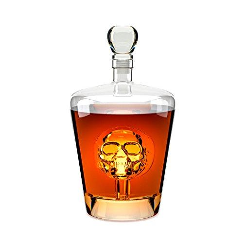 Balvi-décanteuràwhiskyPoison.Bouteilleàliqueurd'1litre.Contientunetêtedemortàl'intérieur.Fabriquéeenverre.