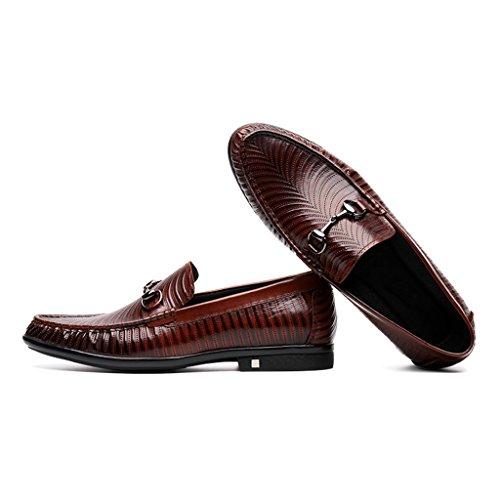 Scarpe Uomo in Pelle Scarpe da uomo in pelle da uomo Casual Scarpe da lavoro Business British Tide Lazy Shoes ( Colore : Nero , dimensioni : EU38/UK5.5 ) Marrone