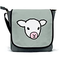 Sheep Messenger Bag/Satchel | Pink, Blue or Grey | Waterproof Canvas | By Paw Prints