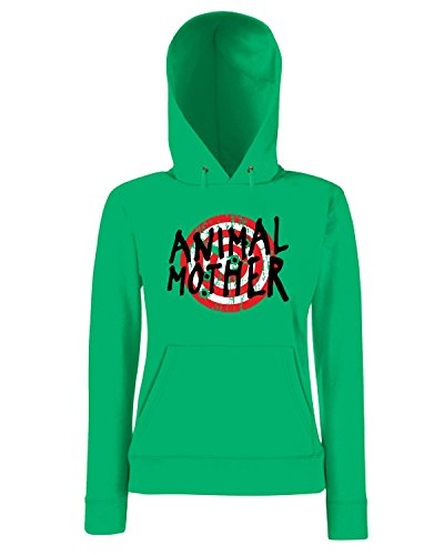 T-Shirtshock - Sweatshirt a capuche Femme TF0088 Inspired by Full Metal Jacket and Animal Mother Vert