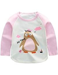 Baby Boy Girl Langarm Top Pyjamas Shirt Cartoon Gedruckt Hübsch Outfit Alter 1 2 3 4 5 Jahre Alt