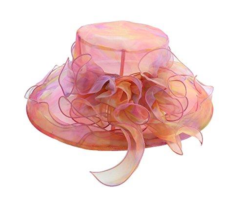 Bigood Vogue Femme Chapeau Soleil Souple à Plage pour Vacance Voyage Multicolore#D