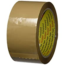 3M 371 Box Sealing Tape, 50 mm x 66 m, 0.048 mm, Brown, 6 Piece