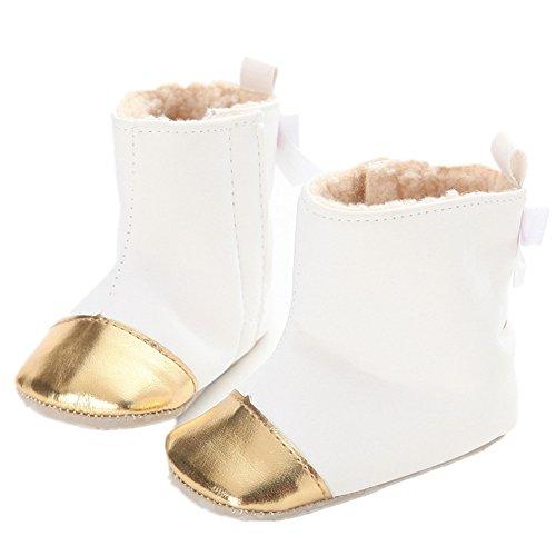 L-Peach Babyschuhe Mädchen Junge Neugeboren Lauflernschuhe Baby Schneestiefel Weich Sohle Winter Warme Winterschuhe Boots für Kinder Baby 0-18 - Peach-18 Prinzessin