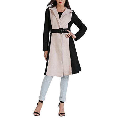 (♫♫ Amlaiworld Retro Winter Herbst Mäntel Warm Lang Elegant Jacken lässig Outdoor Büro Pullover Freizeit weich Gemütlich pullis)
